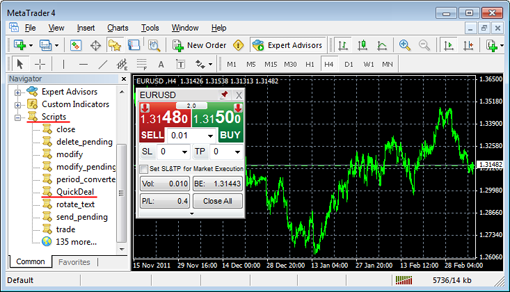 Enable one click trading mt4